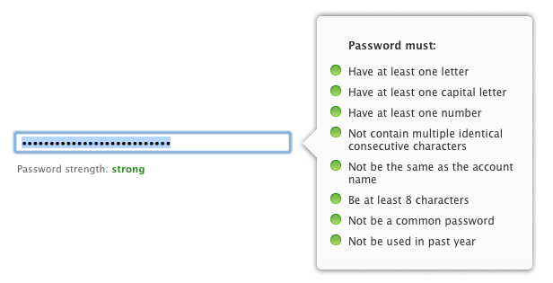 Apple ID Password Requirements