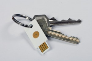 YubiKey on a Keyring