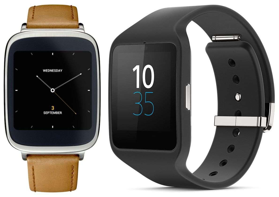 Asus ZenWatch and Sony SmartWatch 3