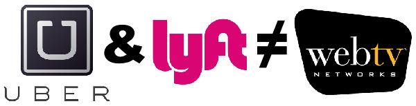 Uber, Lyft & WebTV Logos