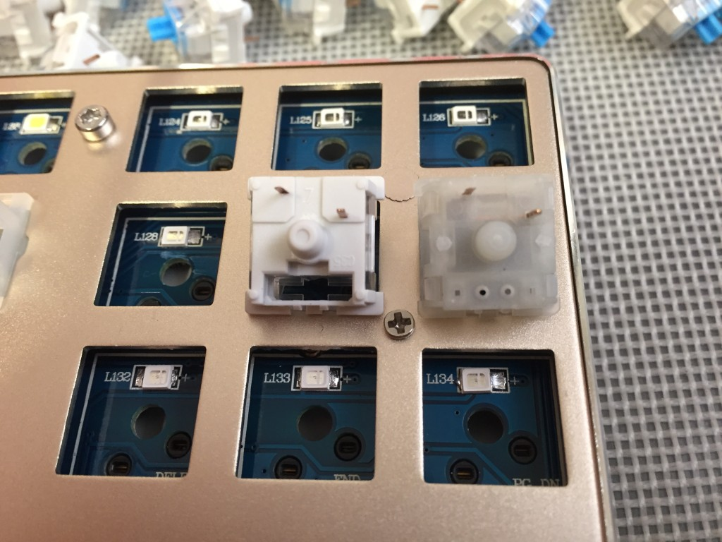 Bottom of Gaote and Gateron switches