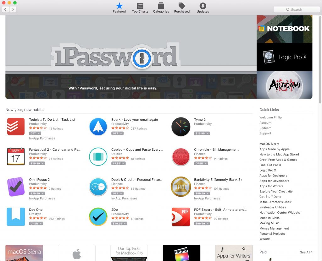 The Mac App Store today